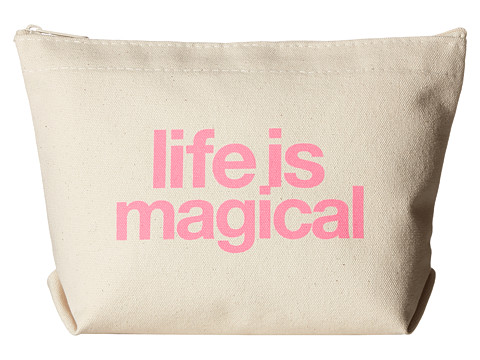 Dogeared Life Is Magical Lil Zip - Natural/Pink