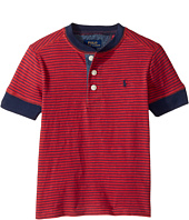 Polo Ralph Lauren Kids - Yarn-Dyed Slub Jersey Short Sleeve Henley Top (Toddler)