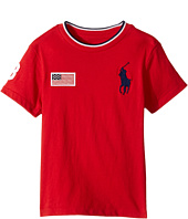 Polo Ralph Lauren Kids - 30s Jersey Big Pony Polo Crew Neck Top (Toddler)