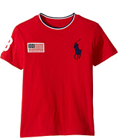 Polo Ralph Lauren Kids - 30s Jersey Big Pony Polo Crew Neck Top (Little Kids/Big Kids)