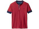 Yarn-Dyed Slub Jersey Short Sleeve Henley Top (Little Kids/Big Kids)