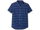 Polo Ralph Lauren Kids - Indigo Plain Weave Short Sleeve Button Down Top (Little Kids/Big Kids)