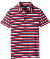 Polo Ralph Lauren Kids - Yarn-Dyed Slub Jersey Short Sleeve Cut Top (Little Kids/Big Kids)