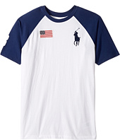Polo Ralph Lauren Kids - 30s Jersey Big Pony Polo Crew Neck Top (Big Kids)