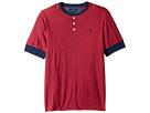 Yarn-Dyed Slub Jersey Short Sleeve Henley Top (Big Kids)