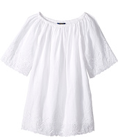 Polo Ralph Lauren Kids - Cotton Lace Hem Dress (Little Kids)