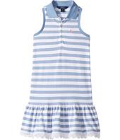 Polo Ralph Lauren Kids - Stretch Mesh Slim Polo Dress (Little Kids)