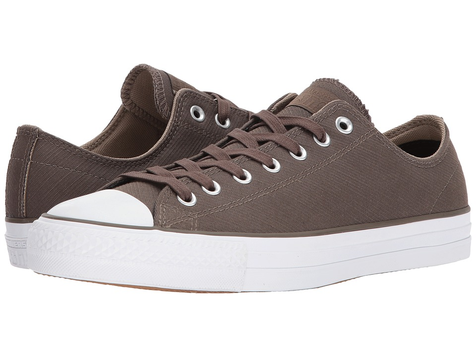 Converse Skate Chuck Taylor(r) All Star(r) Pro Suede Backed Twill Ox (Engine Smoke/Sandy/White) Skate Shoes