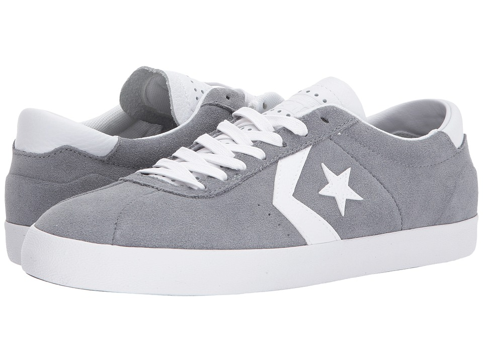 Converse Skate Breakpoint Pro Suede w/ Leather Ox (Cool Grey/White/White) Skate Shoes
