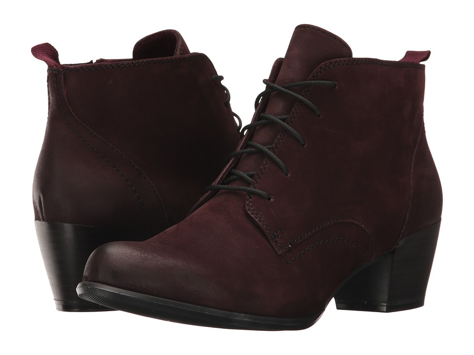 Tamaris Ocimum 1-1-25115-29 (Merlot Nubuck) Women's Shoes