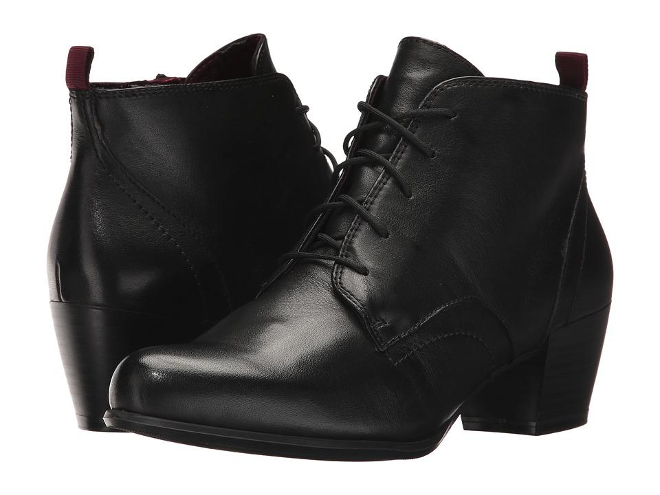 Tamaris Ocimum 1-1-25115-29 (Black Leather) Women's Shoes