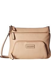 6PM:Calvin Klein 卡文克莱 Key Item 鹅卵石纹皮革女挎包 特价仅售$54.99