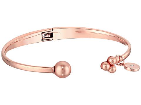 Michael Kors Modern Classic Pearl Open Hinge Bracelet - Rose Gold