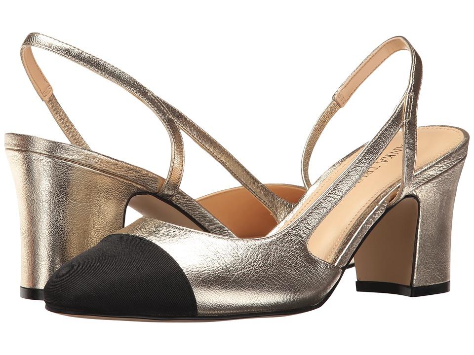 Ivanka Trump Liah (Gold Leather/Galaxy/Grosgrain) High Heels