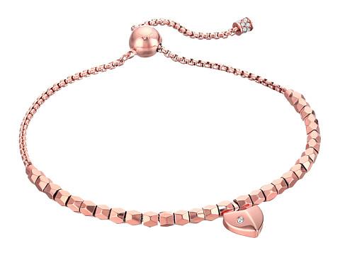Michael Kors Polished Platings Heart Slider Bracelet - Rose Gold