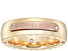 Michael Kors - Tailored Two-Tone Logo Plaque Band Ring
