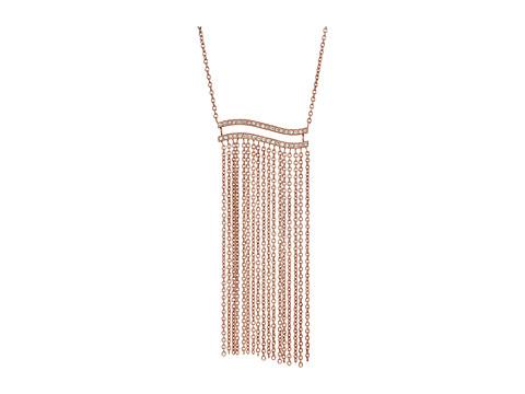 Michael Kors Wonderlust Long Tassel Pendant Necklace - Rose Gold