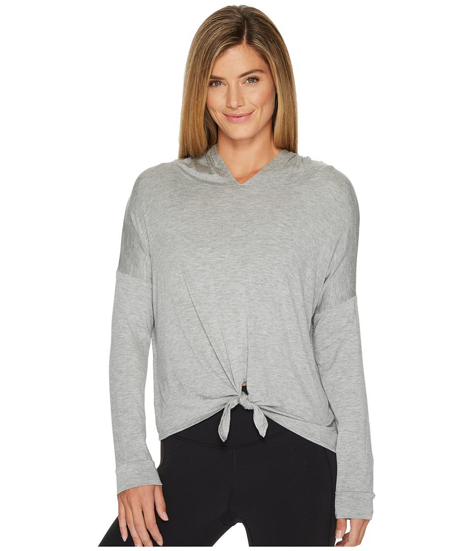 Image of Beyond Yoga - All Tied Up Hoodie (Light Heather Gray) Women's Sweatshirt