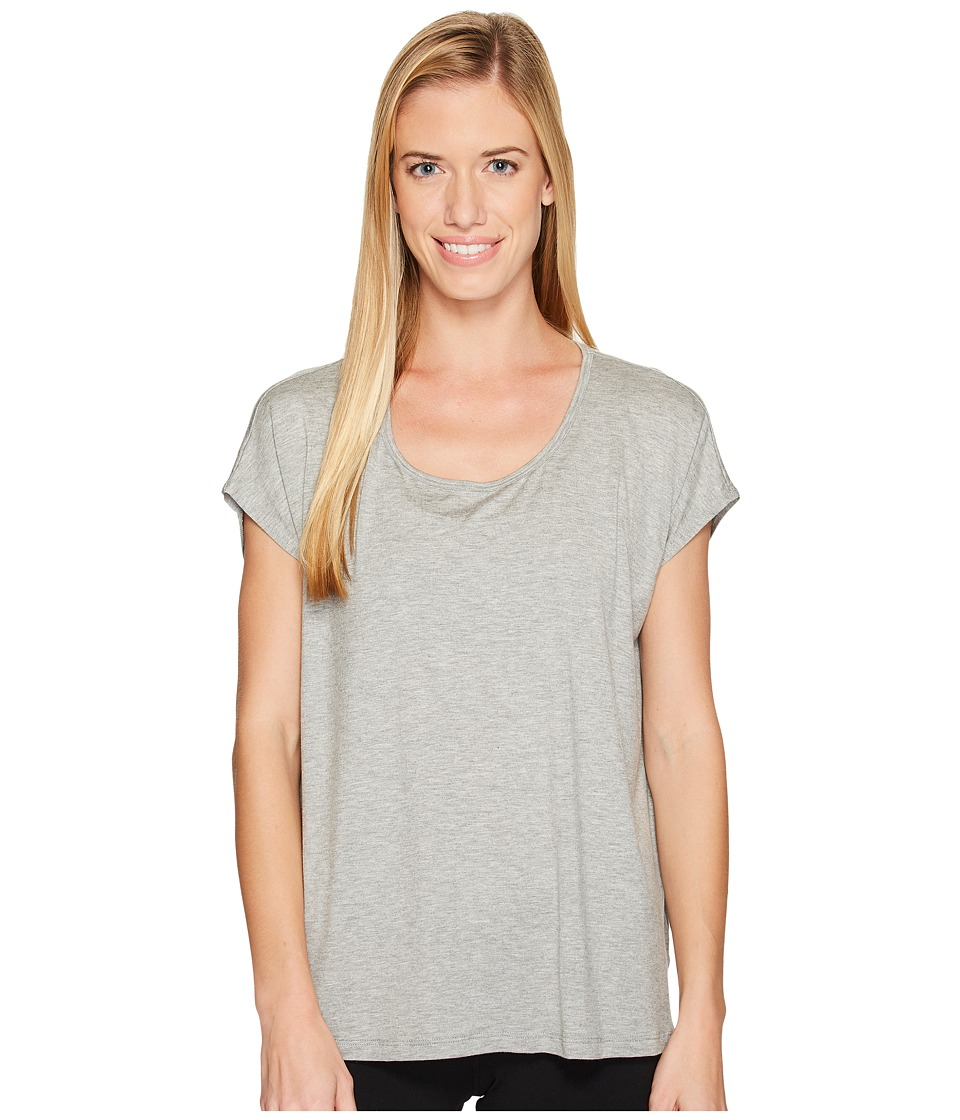 Beyond Yoga Back Out Tee (Light Heather Gray) Women