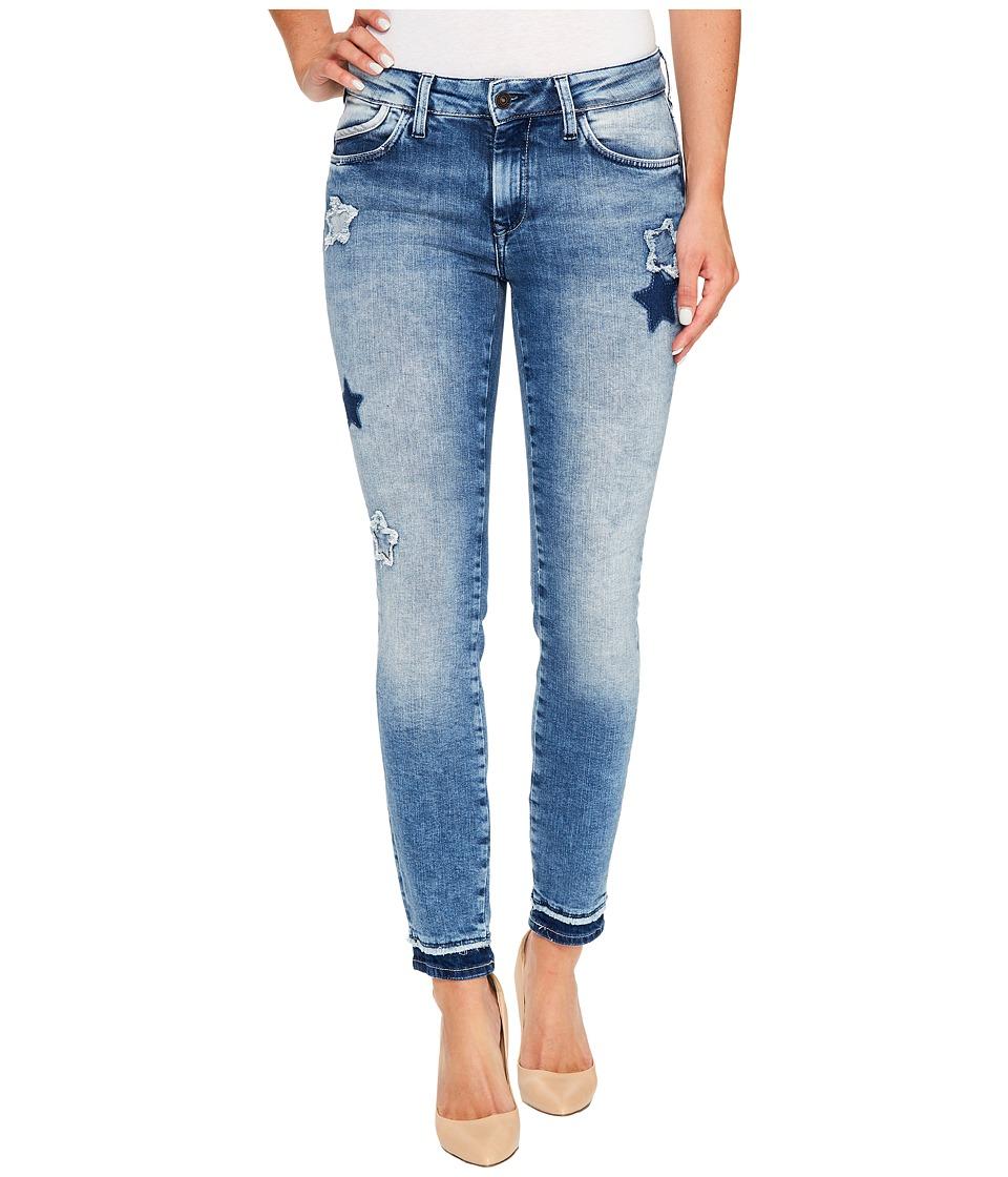 Mavi Jeans Adriana Mid-Rise Super Skinny Ankle in Patchoff Star Blocking (Patchoff Star Blocking) Women