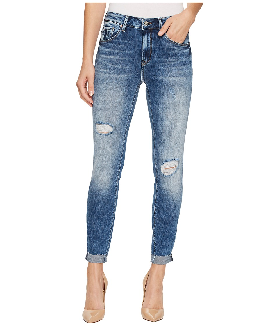 Mavi Jeans Tess High-Rise Super Skinny Ankle in Mid Indigo Vintage (Mid Indigo Vintage) Women