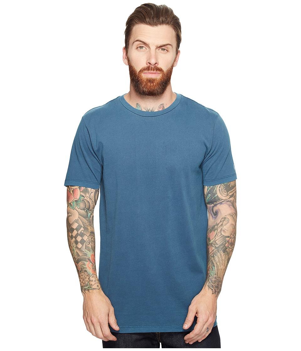 Volcom Pale Wash Solid Short Sleeve Tee (Flight Blue) Men