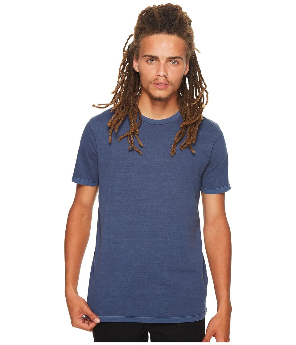 Volcom Pale Wash Solid Short Sleeve Tee (Blue) Men