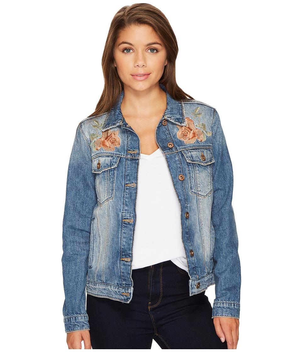 Mavi Jeans Katy Jacket (Bronze Rose Embroidery) Women