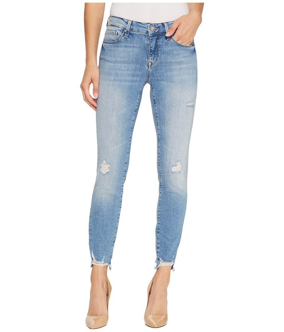 Mavi Jeans Adriana Mid-Rise Super Skinny Ankle in Light Destructed Vintage (Light Destructed Vintage) Women