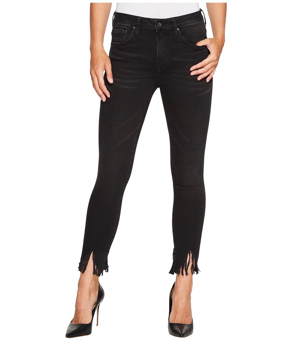 Mavi Jeans Tess High-Rise Super Skinny Ankle in Smoke Fringe (Smoke Fringe) Women