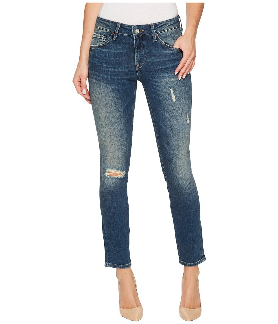 Mavi Jeans Adriana Mid-Rise Super Skinny Ankle in Mid Shaded Glam Vintage (Mid Shaded Glam Vintage) Women