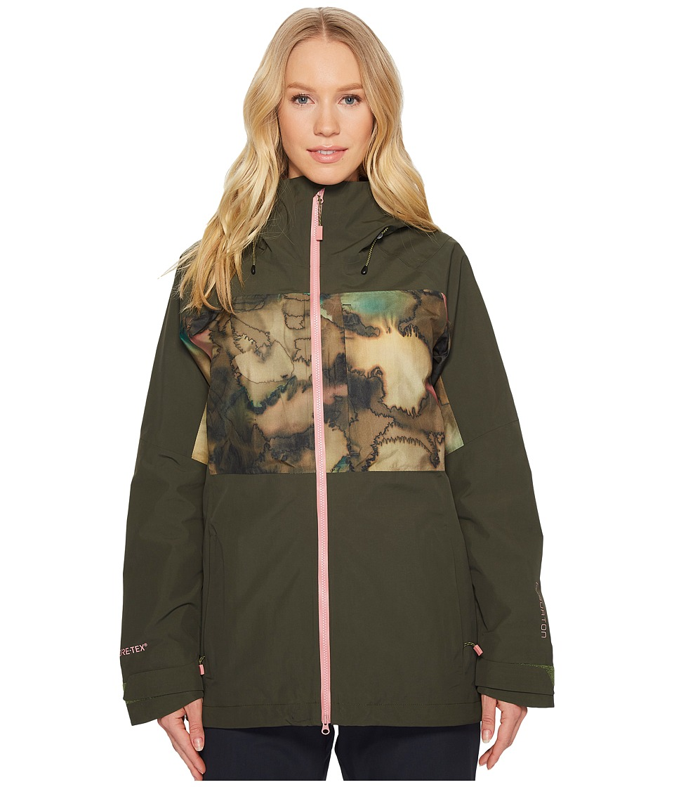 Burton - [ak] 2L Blade Jacket (Forest Night/Tea Camo) Womens Coat
