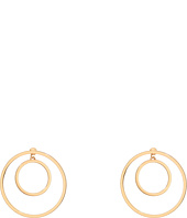 Steve Madden - Double Ring Front to Back Earrings