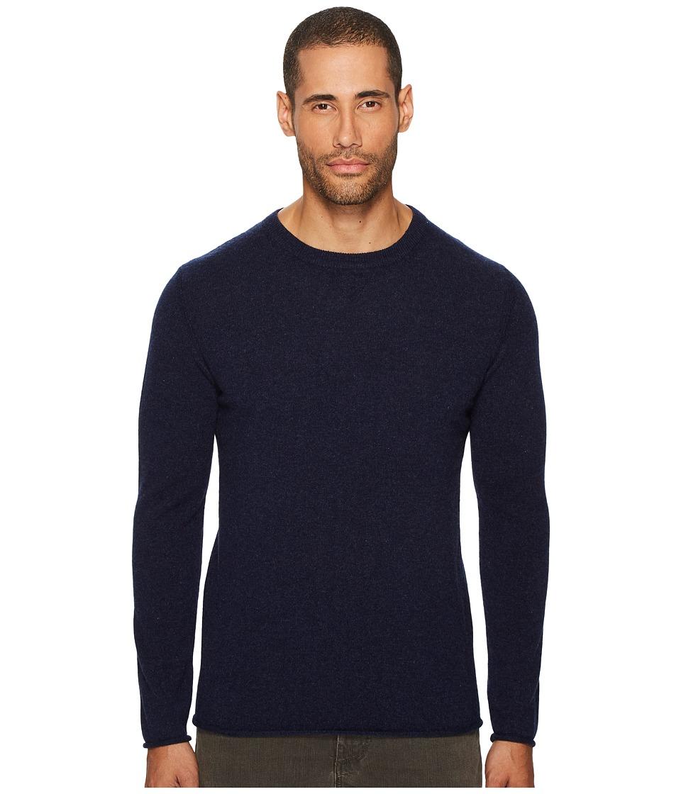 Billy Reid Cashmere Crew Sweater (Navy) Men's Sweater