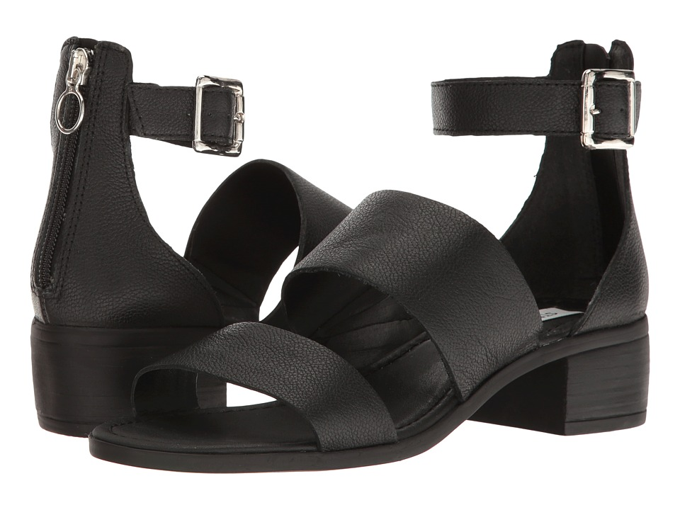 Steve Madden Daly (Black Leather) Women