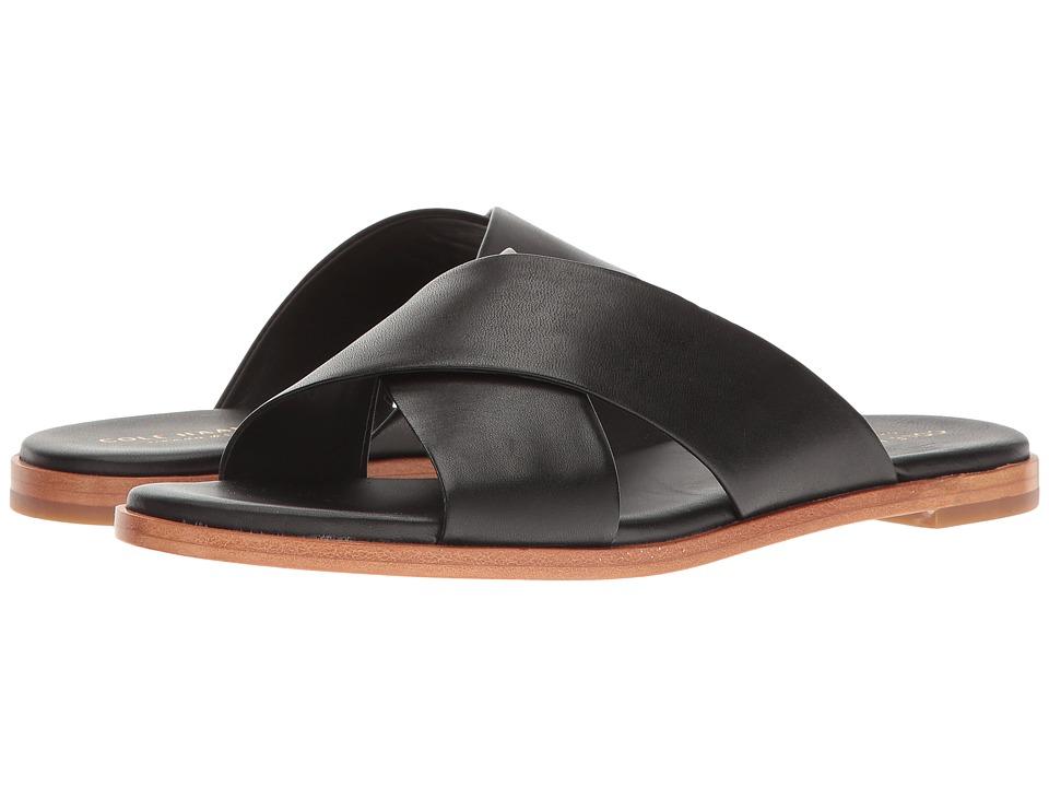 Cole Haan Anica Crisscross Sandal (Black) Women