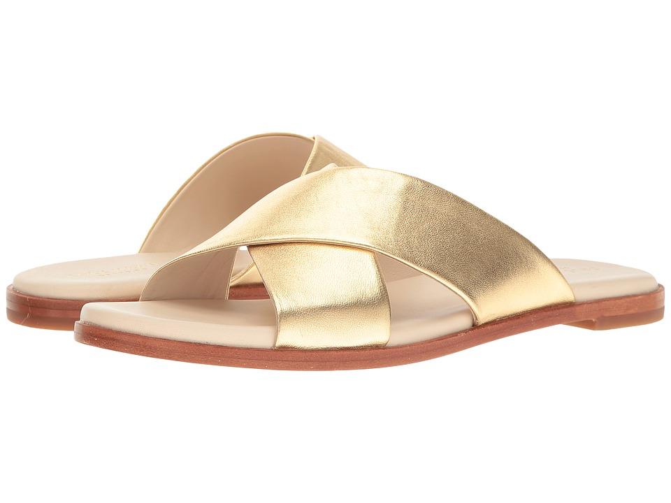 Cole Haan Anica Crisscross Sandal (Gold Metallic) Women