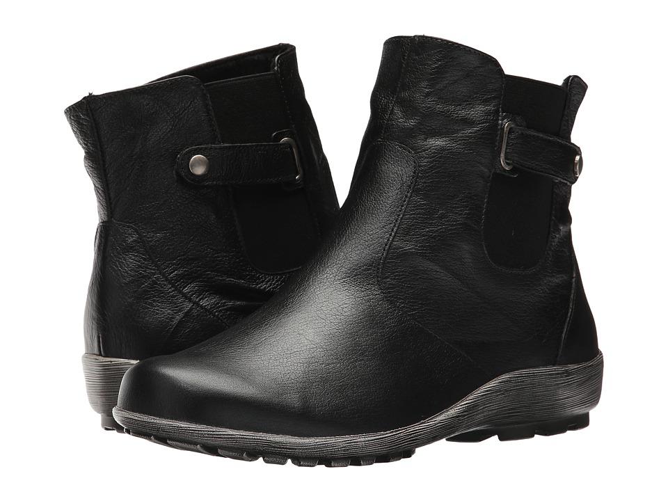 Walking Cradles Hadwin (Black Grainy Leather) Women