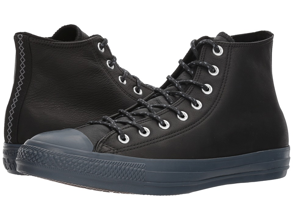 Converse Chuck Taylor(r) All Star(r) Leather w/ Thermal Hi (Black/Black/Sharkskin) Classic Shoes