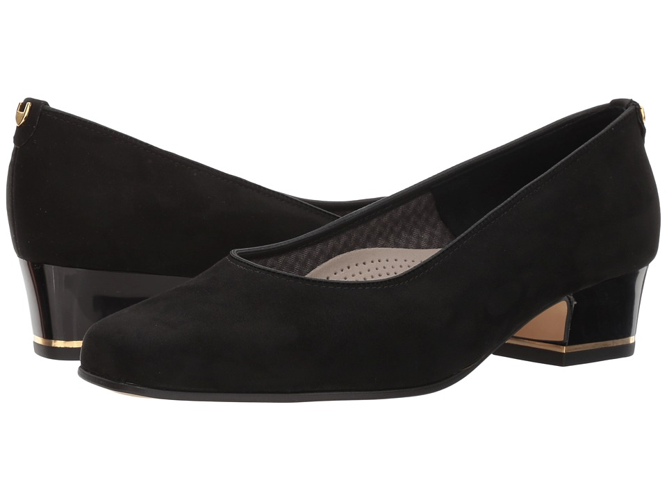 ara - Gada (Black Microsuede) Womens 1-2 inch heel Shoes
