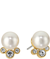 Michael Kors - Modern Classic Pearl and Crystal Stud Earrings
