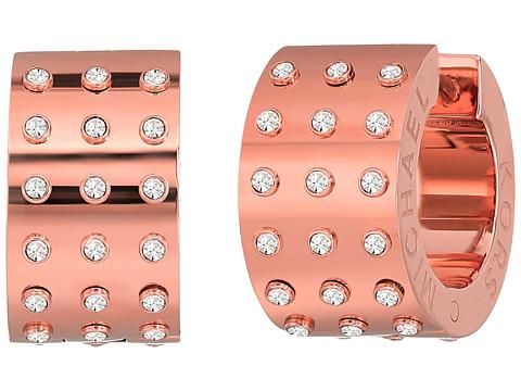 Michael Kors Micro Muse Microstud Huggie Earrings - Rose Gold