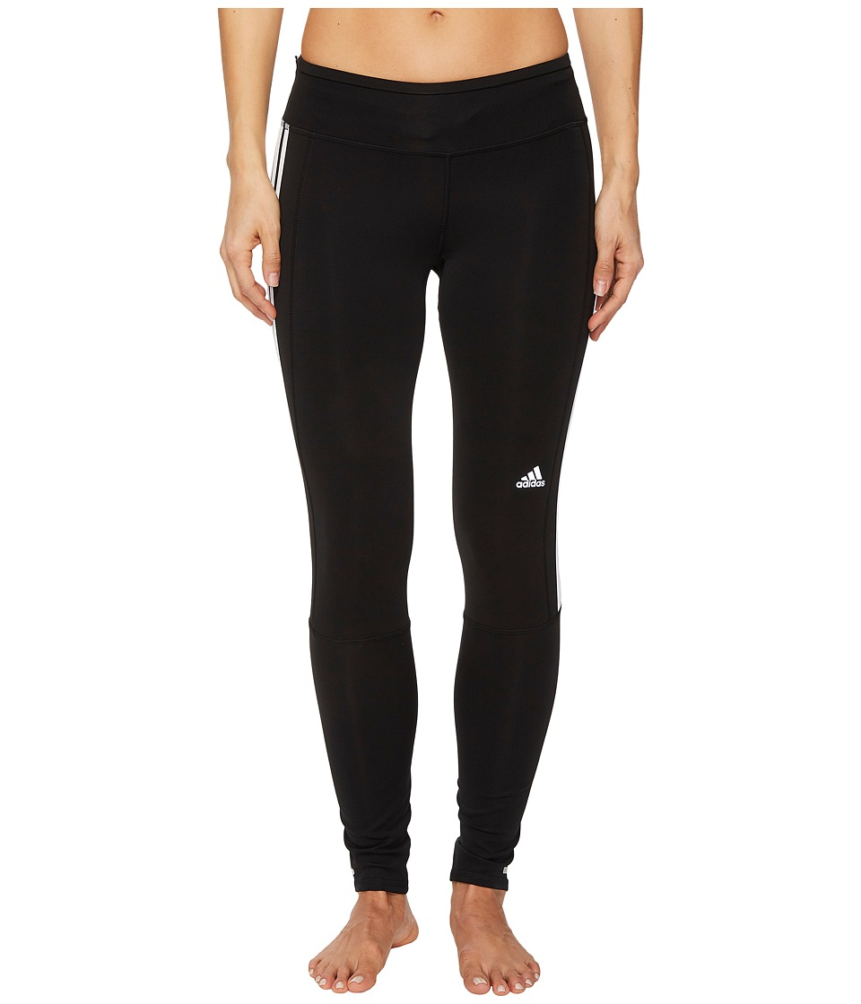 adidas Response 3-Stripes Long Tights (Black/Black/White) Women