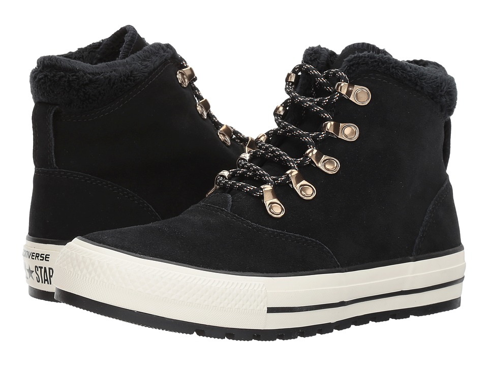 Converse Chuck Taylor(r) All Star(r) Ember Boot Suede Faux Fur Hi (Black/Black/Egret) Women