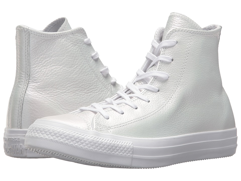 Converse Chuck Taylor(r) All Star(r) Iridescent Leather Hi (White/White/White) Women