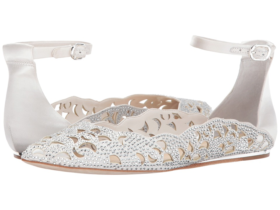 Vintage Style Wedding Shoes, Boots, Flats, Heels Imagine Vince Camuto - Garyn Ivory Deluxe SatinNappa Womens Shoes $150.00 AT vintagedancer.com