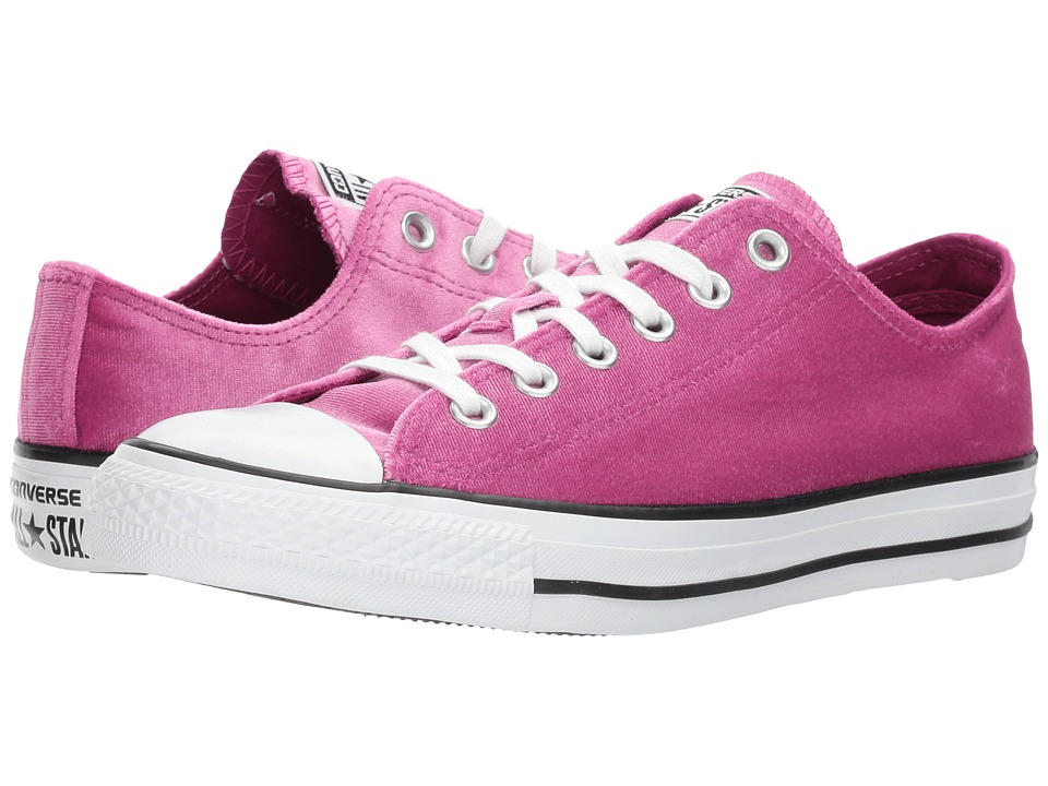 Converse Chuck Taylor(r) All Star(r) Velvet Ox (Pink Sapphire/White/White) Women