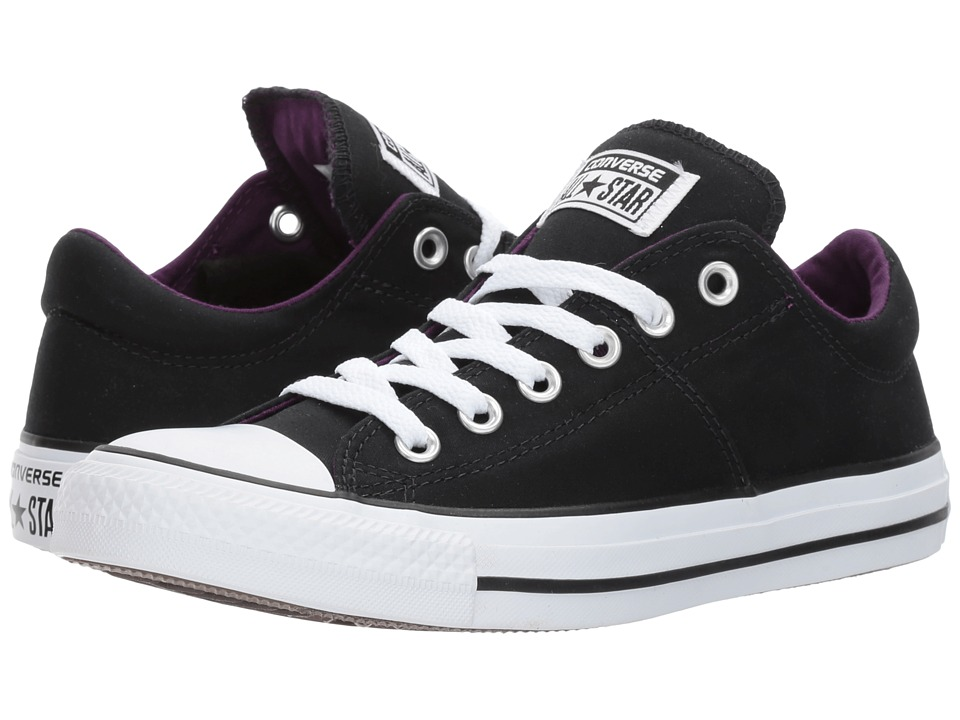 Converse Chuck Taylor(r) All Star(r) Madison Winter Canvas Ox (Black/White/Night Purple) Women