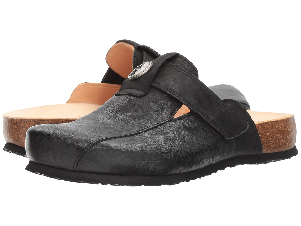 Think! Julia 81349 (Black Capra Rustico/Calf Nubuck) Women
