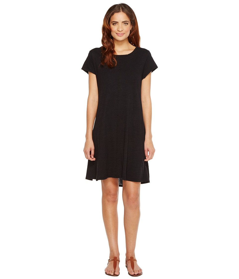 HEATHER - Cotton Gauze Panel Back Tee Dress